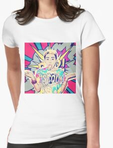 POP ART MILEY Womens Fitted T-Shirt