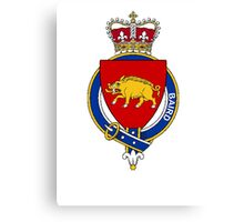 Coat of arms (family crest) for last-name or surname Baird (Scotland) . Heraldry banner for your name. Canvas Print