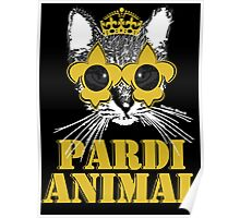 Black and Gold Pardi Animal Poster