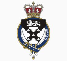 Coat of arms (family crest) for last-name or surname Baker (England) . Heraldry banner for your name. by rita24