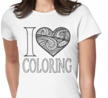 I  Love Coloring Womens Fitted T-Shirt