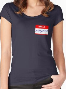 Hi, My name is Anonymous Women's Fitted Scoop T-Shirt