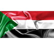 Sudan Flag Photographic Print
