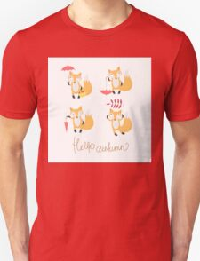 Set with foxes. T-Shirt