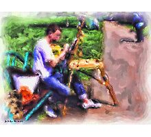 Artist Busy at Work Photographic Print