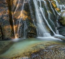 Lower Bell's Canyon Waterfall by Alan Mitchell