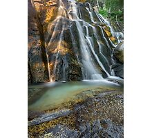 Lower Bell's Canyon Waterfall Photographic Print
