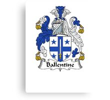 Coat of arms (family crest) for last-name or surname Ballentine . Heraldry banner for your name. Canvas Print