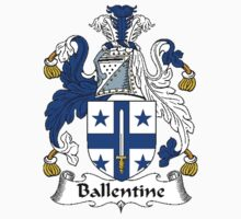 Coat of arms (family crest) for last-name or surname Ballentine . Heraldry banner for your name. by rita24