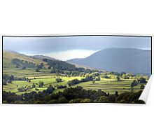 Lush Green Landscapes at Ambleside Poster