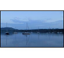 Sail Boats - Ambleside at Dusk  Photographic Print
