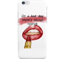 """On a bad day, there's always lipstick"" - fashion illustration from GìGì  iPhone Case/Skin"