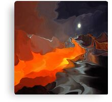 Magic mountain- Abstract  Art + Products Design  Canvas Print