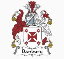Coat of arms (family crest) for last-name or surname Banbury . Heraldry banner for your name. by rita24