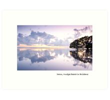 Dawn, Nudgee Beach in Brisbane Art Print