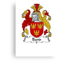 Coat of arms (family crest) for last-name or surname Band . Heraldry banner for your name. Canvas Print