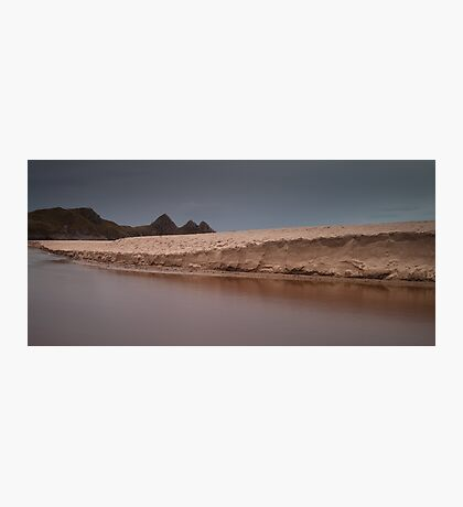 Sand dunes at Three Cliffs Bay Photographic Print