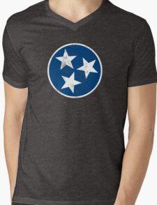Tennessee State Flag T-shirt Mens V-Neck T-Shirt