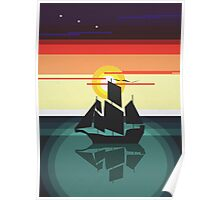 The Black Vector | Pirate Ship Poster
