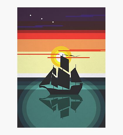 The Black Vector | Pirate Ship Photographic Print