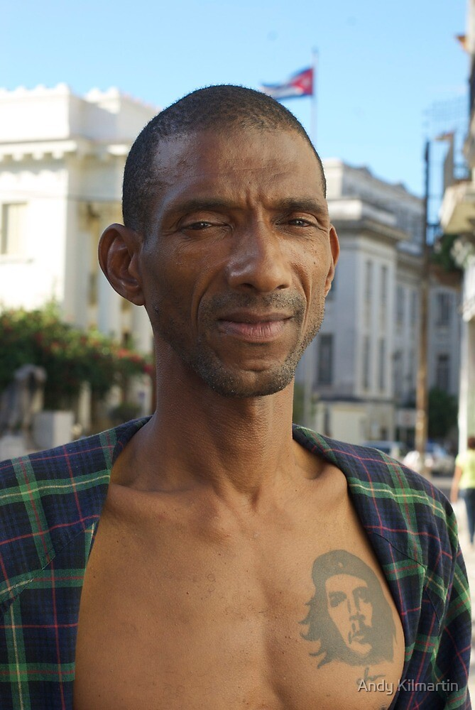 Street sweeper, Havana, Cuba. by Andy Kilmartin