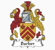 Coat of arms (family crest) for last-name or surname Barber . Heraldry banner for your name. by rita24