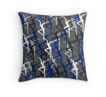 Dave Matthews Band Fire Dancer Pattern- Blue Throw Pillow