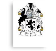 Coat of arms (family crest) for last-name or surname Barcroft . Heraldry banner for your name. Canvas Print