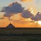 Mont St Michel Sunset by Ludwig Wagner
