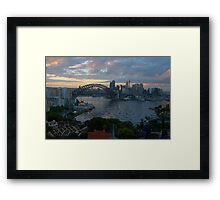 Light & Shadow, Sydney Harbour, Sydney Australia - The HDR Experience Framed Print