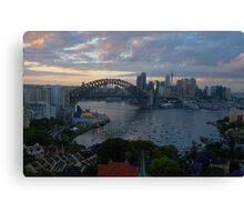 Light & Shadow, Sydney Harbour, Sydney Australia - The HDR Experience Canvas Print