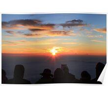 Goraiko - Sunrise on Mt Fuji San Poster