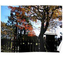 Autumn Shinto Gate Poster