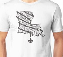 Louisiana State Wrapped in Black Beads Unisex T-Shirt