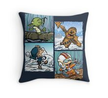 Playful Rebels Throw Pillow