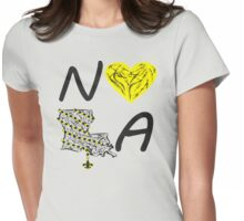 I heart NOLA (Black and Gold) 3 Womens Fitted T-Shirt