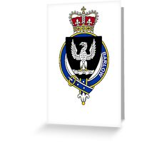 Coat of arms (family crest) for last-name or surname Barlow (England) . Heraldry banner for your name. Greeting Card