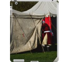 Entering a tent iPad Case/Skin