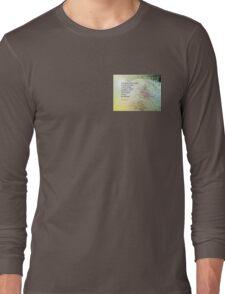 Serenity Prayer Boulder and Butterfly Bush Long Sleeve T-Shirt