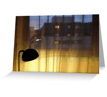 Gold and blue lights .. Greeting Card