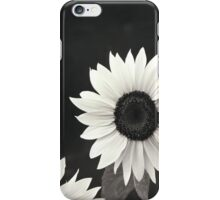 Sunflower in black and White iPhone Case/Skin