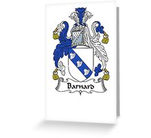 Coat of arms (family crest) for last-name or surname Barnard II . Heraldry banner for your name. Greeting Card