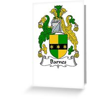 Coat of arms (family crest) for last-name or surname Barnes II . Heraldry banner for your name. Greeting Card