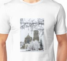 The Church of St. Mary/St. Paul in Winter Unisex T-Shirt