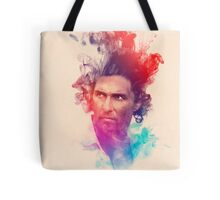Matthew McConaughey Ink Watercolor Splash Portrait True Detective Tote Bag