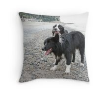Together on the Beach Throw Pillow