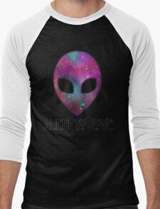 Alien to Love - PURPLE Men's Baseball ¾ T-Shirt