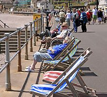 Deckchairs on the Seafront by Chris L Smith