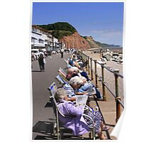 Deckchairs on the Seafront Poster