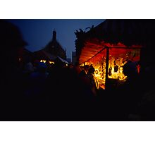 Nuremberg Christkindles-Market in the Evening Photographic Print